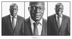 B&W Corporate Portrait Triptych